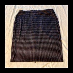 Lane Bryant Zipper Back Houndstooth Pencil Skirt